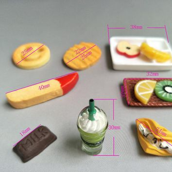 Mini simulation food Doll house Accessories For Barbie And Kelly Furniture Monster Hight Dolls