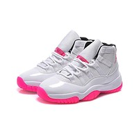 Air Jordan 11 Retro GS White/Pink AJ11 Sneakers