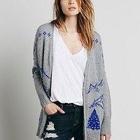 Free People Womens Mt Rainier Cardi - Heather Grey Combo