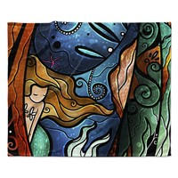 "Mandie Manzano ""Fathoms Below Mermaid"" Fleece Throw Blanket"
