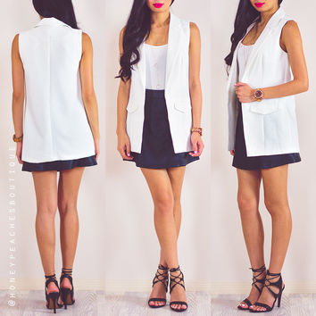 Say You'll Remember Me Vest - White