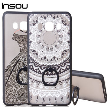 Dream Catcher Silicone phone cover case for Samsung Galaxy J3 J5 A3 A5 2016 case S7 edge J5 A310 A510 J510 Ring Holder Stand