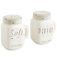 Ceramic Mason Jar Salt & Pepper Shakers