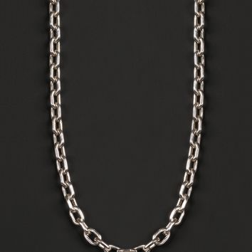 Men's Sterling Silver Chain Necklace (Cable Chain Link)