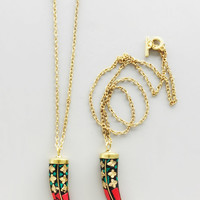 Handcrafted Red Horn Pendant Necklace