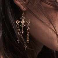 Free People Charmed Cross Earrings