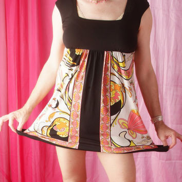 Crossdresser Mod Mini Dress Black and Pink Girly Dress Size Large Sissy