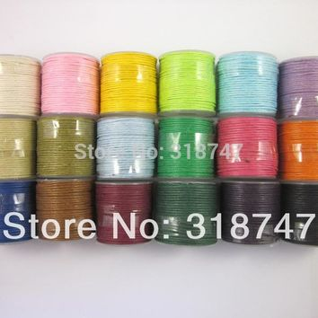 1mm Waxed thread cotton cord string strap DIY Carft 10y roll 1roll pack 013005006