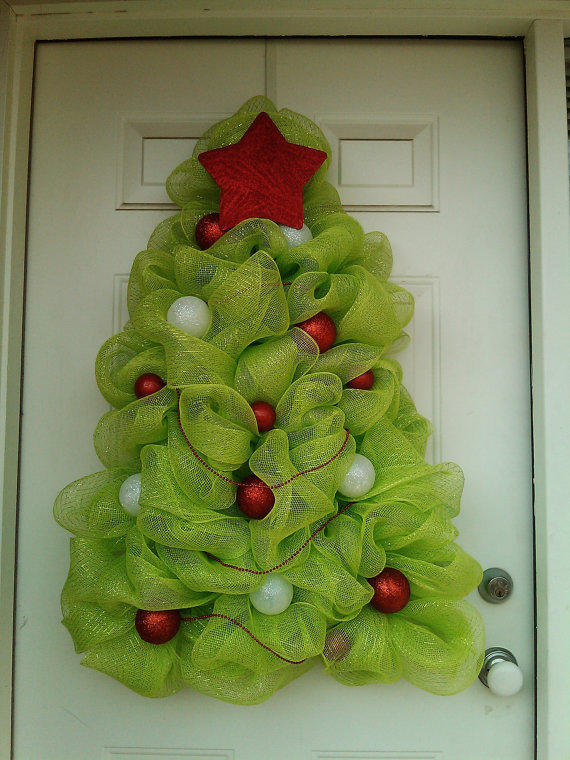 Christmas Tree Wreath- Deco Mesh from DitzyDesign on Etsy