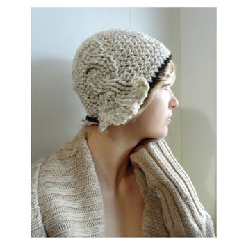 Crochet PATTERN - Madison Cabled Cloche Hat - sizes Toddler - Adult