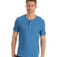 Vince Short Sleeve Slub Cotton Henley Turquoise - Zappos.com Free Shipping BOTH Ways