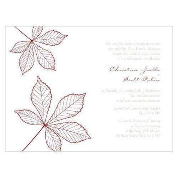 Autumn Leaf Invitation Berry (Pack of 1)