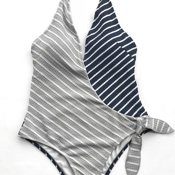 Cupshe Along The Waterway Stripe One-piece Swimsuit