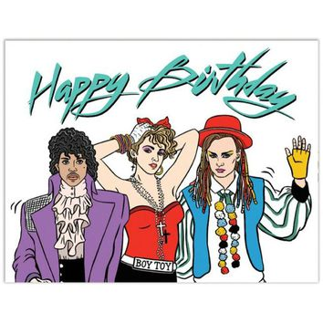 80's Icons Happy Birthday Card