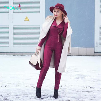 TAOVK design new fashion Russia style Women's Spring and Autumn jumpsuits