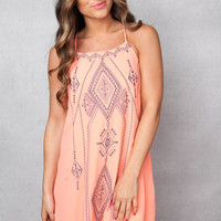 Many Meanings Coral Dress