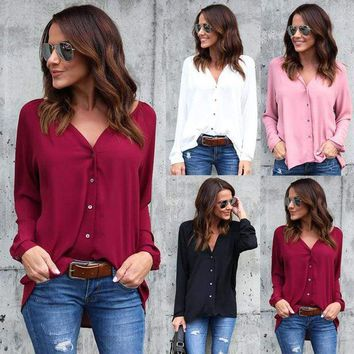 Women's Long Sleeve Loose Blouse