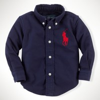 Big Pony Cotton Blake Shirt - Sportshirts   Infant Boy (9M–24M) - RalphLauren.com