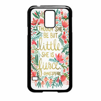 Red Flowers Though She Be But Little She Is Samsung Galaxy S5 Case