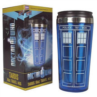 High Quality Doctor Dr. Who Tardis Coffee Cup Stainless Steel Interior Thermos Mug Thermomug Thermocup 450ml