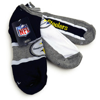 NFL Pittsburgh Steelers Ankle Socks [3 Pairs]