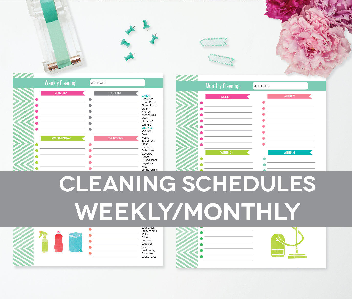 image relating to Cleaning List Printable titled Cleansing Routine Printable, Weekly Regular monthly, Fresh Space Agenda List, EDITABLE PDF Fast Down load, 8.5x11