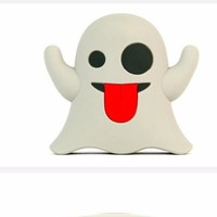 Ghost Emoji External Battery Charger Power Bank Accessory
