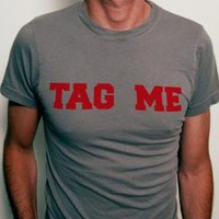Tag Me Mens Tee by WhiteRabbit7 on Etsy