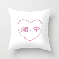 Me & Wifi Throw Pillow by hayimfabulous