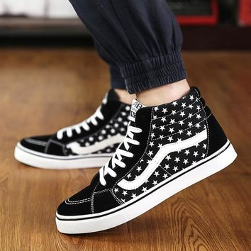 Shoes Summer Permeable High-top Korean Men's Shoes [12149151507]