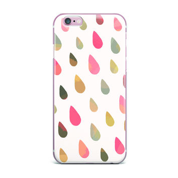 "Daisy Beatrice ""Opal Drops - Dusk"" Peach White iPhone Case"
