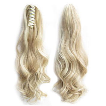 Tiger Claw Clip Horsetail Wig 170g 56cm    F14/613#