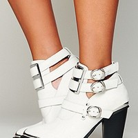 Jeffrey Campbell  Lindi Buckle Back Boot at Free People Clothing Boutique
