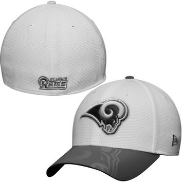 St. Louis Rams New Era Series Gunner Two-Tone 39THIRTY Flex Hat – White