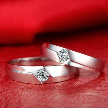 18ct Gold 0.36ct Diamond Couple Set Rings Wedding Bands Engagement Rings for Men Women Free DHL Shipping