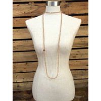Kristalize Jewelry- Brielle Necklace- Champagne