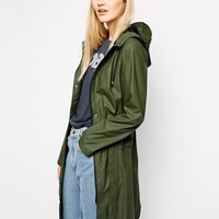 Rains Curve Jacket in Green