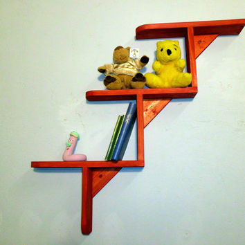 Handmade childrens room shelf, Wall Shelves woodmade, Wall Shelf, floating shelves, bookshelf, hanging shelf