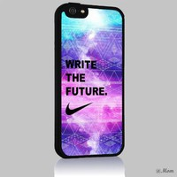Just Do It NIKE Quote Aztec Geometric 01 Iphone 4/4s 5 5c 6 6plus Case (Iphone 6 Black)