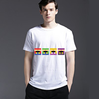 Summer Casual Strong Character Short Sleeve Cotton Men's Fashion Tee Creative T-shirts = 6450494659