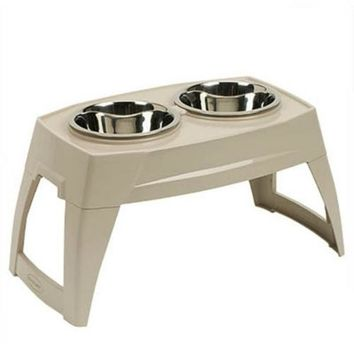 Suncast PFT800 Elevated Pet Feeder with 2 Stainless Steel Bowls, Large