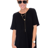 Tucker Jersey Tunic, Black