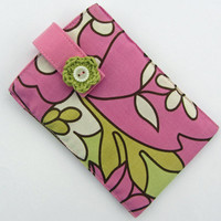 Fabric iPhone Case, with crochet flower