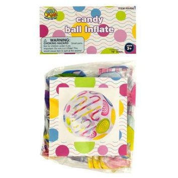 Candy Print Beach Ball ( Case of 24 )