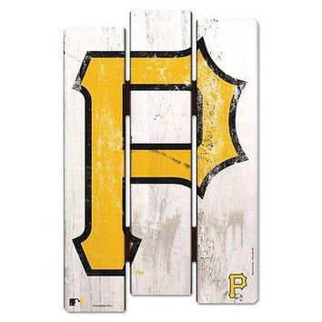 "PITTSBURGH PIRATES ""P"" FENCE WOOD SIGN 11""X17'' BRAND NEW  SHIPPING WINCRAFT"