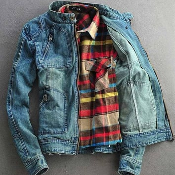 Mens Zip-Up Denim Jacket