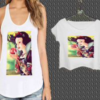 Snow White Punk Disney For Woman Tank Top , Man Tank Top / Crop Shirt, Sexy Shirt,Cropped Shirt,Crop Tshirt Women,Crop Shirt Women S, M, L, XL, 2XL**