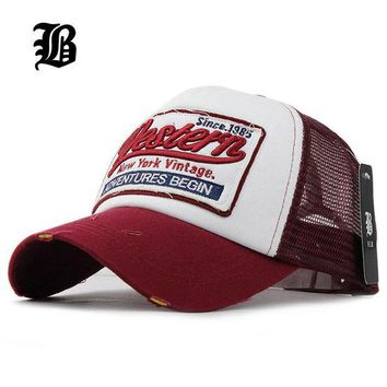 LMFON [FLB] Summer Baseball Cap Embroidery Mesh Cap Hats For Men Women Gorras Hombre Polo Ca