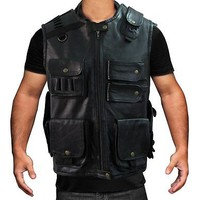 WWE Roman Reigns Shield Tactical Leather Vest - Money Back Guarantee Offer