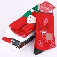 Men's Socks The cotton Christmas day Santa deer snow snow cotton